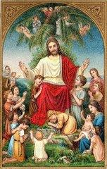 Kinder beten zu Jesus  1908