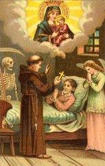 alte Frau auf dem Sterbebett  um 1860