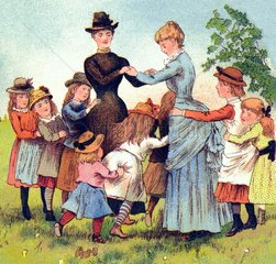 spielende Kinder 1886