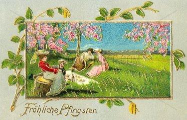 Picknick im Gruenen  Pfingsten  1909