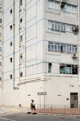 Hongkong  China  heruntergekommenes Fabrikgebaeude in Tsuen Wan