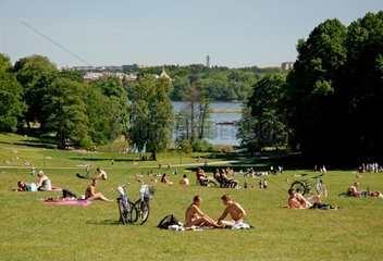 Sweden  Stockholm  Haga Royal Park  Copper Ten