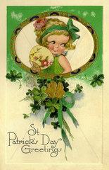 St. Patricks Day Greetings  Postkarte  Irland  1929