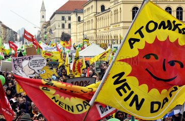Anti-Atom-Demonstration in Muenchen  Maerz 2011
