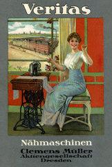Veritas Naehmaschinen  Reklame  1907
