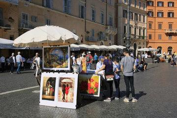 Strassenmaler in Rom