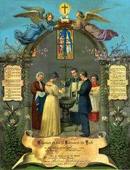 Taufe  Wandbild  1913