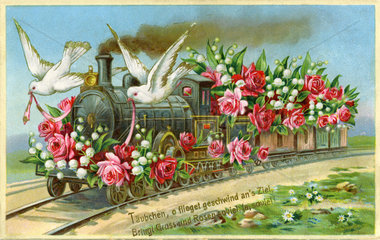 Grusskarte  Glueckwunschkarte  Kitsch  1907