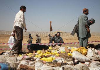 AFGHANISTAN-NANGARHAR-DRUG-BURNING