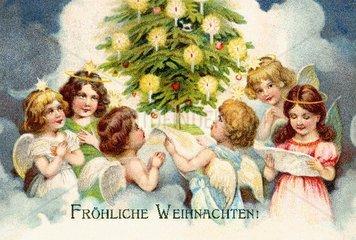 Engelchor unter dem Weihnachtsbaum 1905