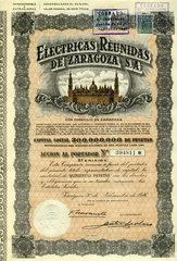 historische spanische Aktie  1946