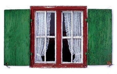 altes Fenster  Bauernhaus