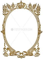Goldrahmen mit Krone  1900