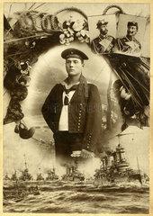 Portrait eines Marinesoldaten  1910