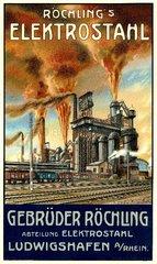 deutsches Stahlwerk um 1925