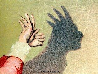 Schattenspiel Indianer 1889