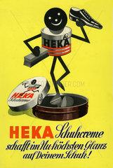 Werbung fuer Heka Schuhcreme  1952