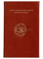 SED Mitgliedsbuch  DDR  1971