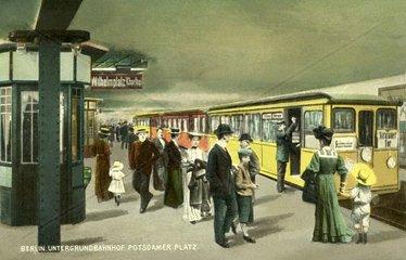 U-Bahnhof Potsdamer Platz 1910