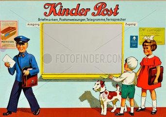 Kinderpost Postschalter  1950