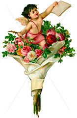 Blumenstrauss  Liebesengel  1890