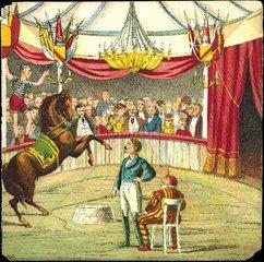 Zirkusvorstellung  um 1870