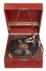 Schweizer Koffergrammophon um 1930