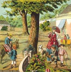 Spaziergang im Park  um 1870