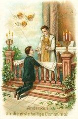 Erste Heilige Kommunion um 1900