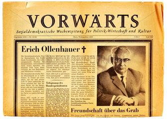 Nachruf auf den SPD-Vorsitzenden Ollenhauer im Vorwaerts  1963