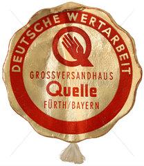 Deutsche Wertarbeit  Qualitaetssiegel  Quelle-Versand  1956