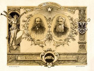 Hirsch-Duncker'sche Gewerkvereine  25jaehriges Jubilaeum  1893