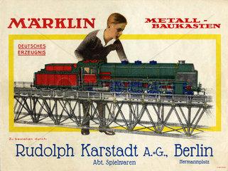 Maerklin Spielwaren bei Karstadt  Berlin  1930