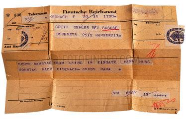 Telegramm  1944