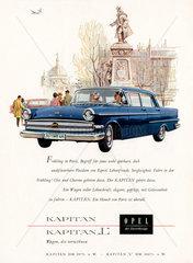 Opel Kapitaen  Werbung  1960