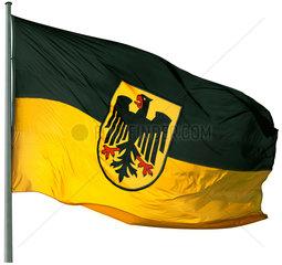 geaenderte Deutschlandfahne  Symbol CDU-FDP-Koalition  schwarz-gelbe Regierung
