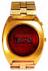 fruehe LED-Armbanduhr  Digitaluhr  um 1976