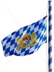 bayerische Fahne auf Halbmast