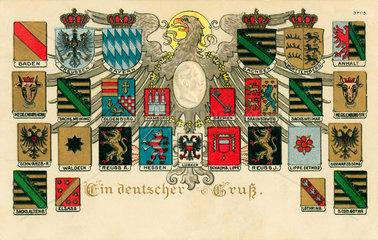 Wappentafel  Kaiserreich  1915