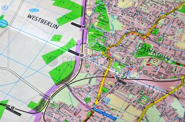 Berliner Stadtplann  DDR  1980