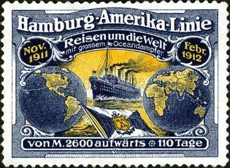 Werbung fuer Kreuzfahrt 1911