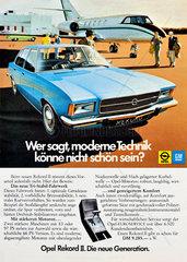 Opel Rekord II  Werbung 1972