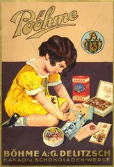 Schokoladenwerbung um 1927