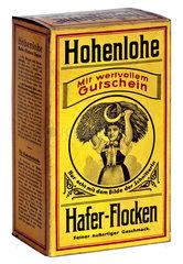 Packung Hohenlohe Haferflocken  1910
