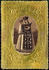 Gebetszettel Muttergottes um 1900