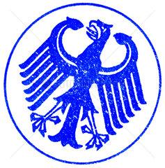alter Stempel Bundesadler  1963