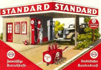 Esso Tankstelle um 1933
