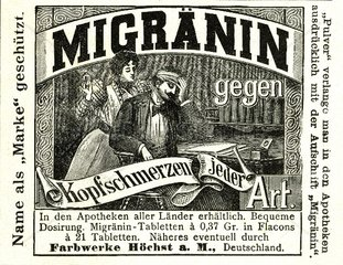 Kopfschmerztabletten 1898