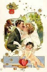 Glueckwunsch zur Hochzeit um 1905