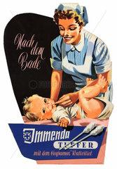 Werbeaufsteller fuer Wattestaebchen  1955